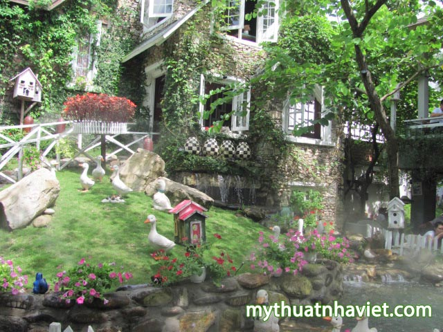thiet ke quan cafe san vuon country house